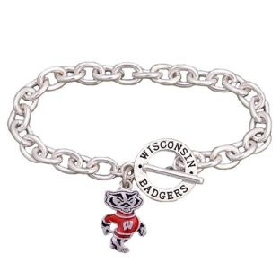 Wisconsin Badgers Charm Bracelet With Bucky