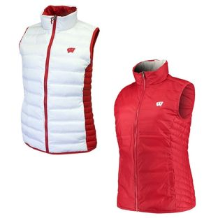 Wisconsin Badgers Columbia Red & White Women's Lake 22 Reversible Vest