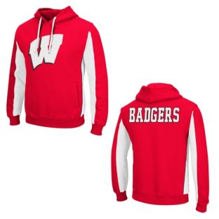 Wisconsin Badgers Big and Tall Red Thriller Hooded Sweatshirt