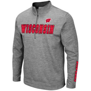 Wisconsin Badgers Colosseum Heather Gray Bart 1/2 Zip