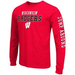Wisconsin Badgers Big and Tall Red Game Changer Long Sleeve