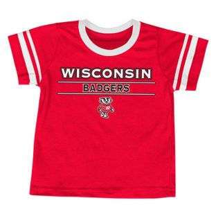 Wisconsin Badgers Colosseum Red Infant Tackle T-Shirt