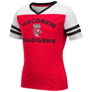Wisconsin Badgers Colosseum Red Youth Girls Faboo T-Shirt