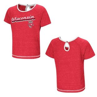 Wisconsin Badgers Colosseum Red Toddler Girls Pool T-Shirt