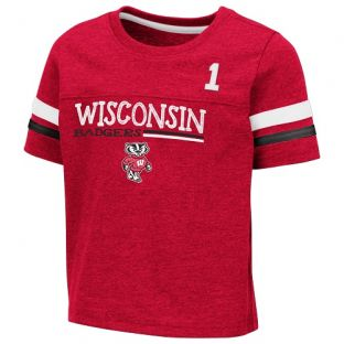 Wisconsin Badgers Colosseum Red Toddler Boone T-Shirt