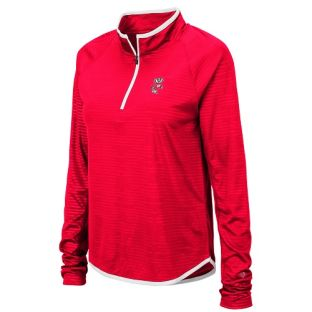 Wisconsin Badgers Colosseum Red Women's Soulmate 1/4 Zip