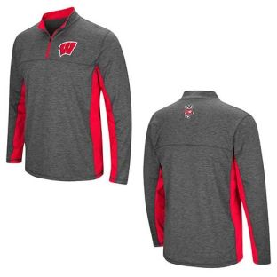 Wisconsin Badgers Colosseum Charcoal Milton 1/4 Zip