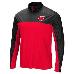 Wisconsin Badgers Colosseum Red & Black Luge 1/4 Zip