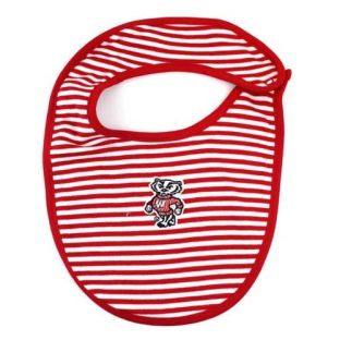 Wisconsin Newborn Stripe Bib