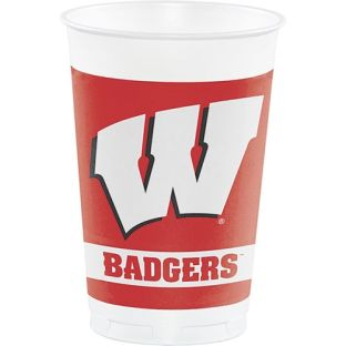 Wisconsin Badgers 8-Pack Plastic Cups