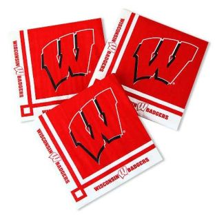 Wisconsin Badgers Beverage Napkins