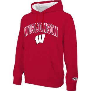 Wisconsin Badgers E5 Tackle Twill Arch W Hooded Sweatshirt
