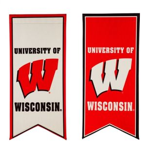 Wisconsin Badgers Double Sided Flag Banner