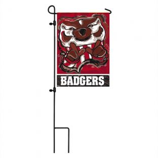 Wisconsin Badgers Justin Patten Double-Sided Garden Flag