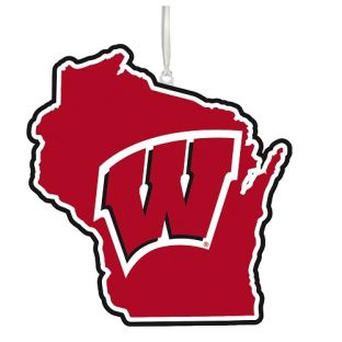 Wisconsin Badgers State Ornament