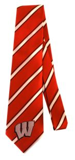 Wisconsin Badgers Striped Tie