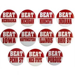 Wisconsin Badgers Beat Buttons