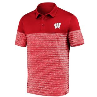 Wisconsin Badgers Iconic Shadow Polo