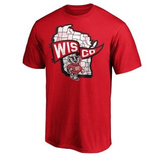 Wisconsin Badgers Red Bucky State Wisco T-Shirt