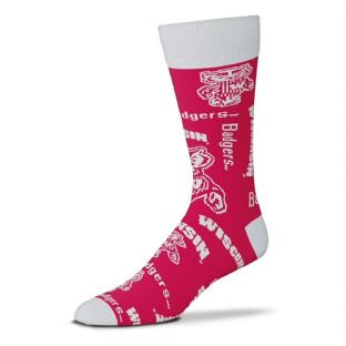 Wisconsin Badgers For Bare Feet Red Wall To Wall Sock