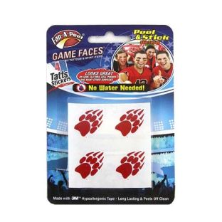 Wisconsin Badgers Paw Print Waterless Tattoo