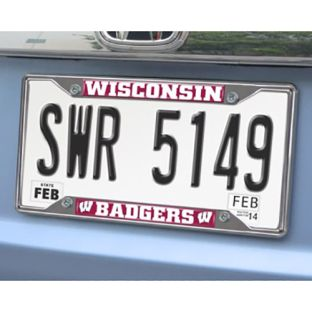Wisconsin Badgers Fan Mats License Plate Frame