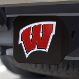 Wisconsin Badgers Fan Mats Colored W Hitch Cover