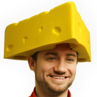 Yellow Foam Cheese Head Hat