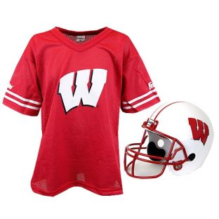 Wisconsin Badgers Youth Jersey and Helmet Set