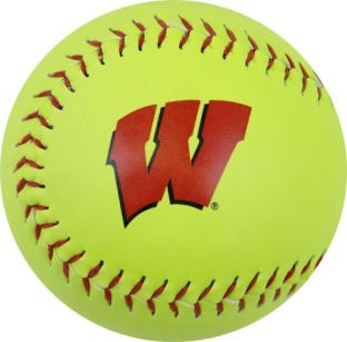 Wisconsin Badgers Yellow Softball