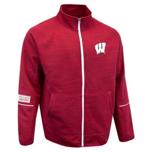 Wisconsin Badgers G-III Red Marled Full Zip Fleece Jacket