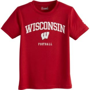 Wisconsin Badgers Under Armour 4-7 Kids Football Practice T-Shirt