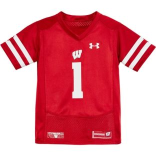 Wisconsin Badgers Under Armour 4-7 Kids Football Jersey