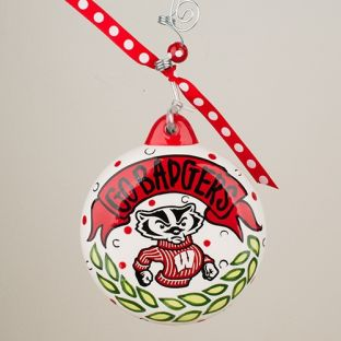 Wisconsin Badgers Puff Ornament