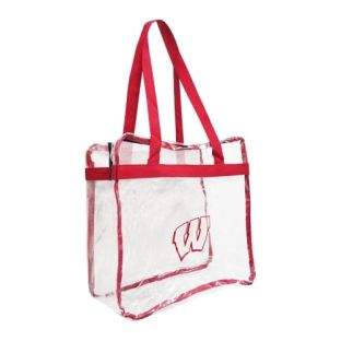 Wisconsin Badgers Clear Tote Bag with Zipper