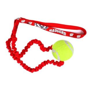 Wisconsin Badgers Tennis Ball Bungee Dog Toy