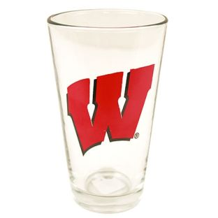 Wisconsin Badgers 16oz Clear Pint Glass
