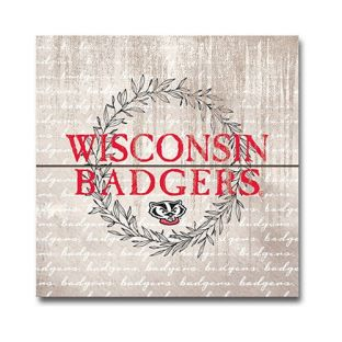 Wisconsin Badgers Crest Wood Magnet