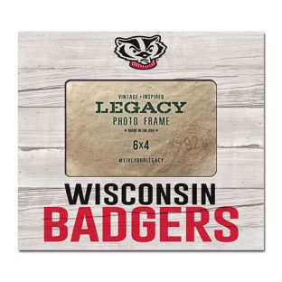 Wisconsin Badgers 4x6 Five & Dime Wood Photo Frame