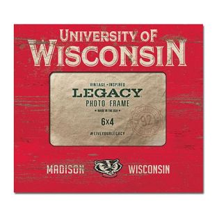 Wisconsin Badgers 4x6 Stack Wood Photo Frame