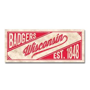 Wisconsin Badgers 2.5x6 Table Top Vintage Slant Stick
