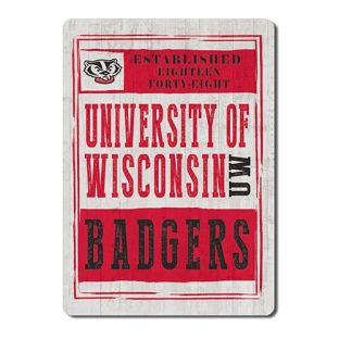 Wisconsin Badgers Chronicle Wood Magnet
