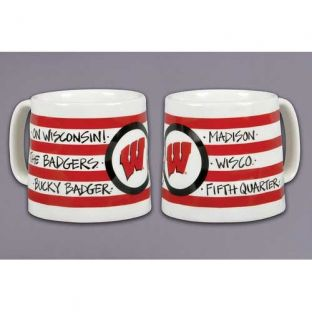 Wisconsin Badgers Magnolia Lane Striped Mug