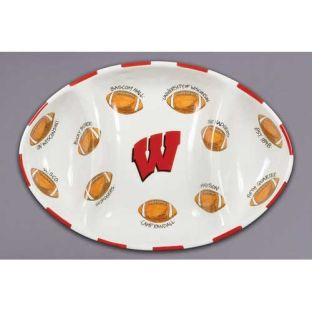 Wisconsin Badgers Magnolia Lane Football Platter