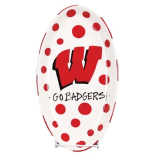 Wisconsin Badgers Magnolia Lane Oval Platter
