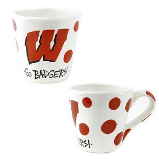 Wisconsin Badgers Magnolia Lane Wobbly Mug