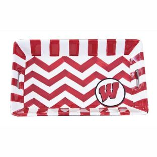 Wisconsin Badgers Magnolia Lane Zig Zag Tray