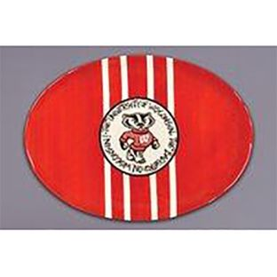 Wisconsin Badgers Magnolia Lane Mascot Platter