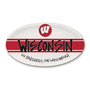 Wisconsin Badgers Magnolia Lane Oval Melamine Serving Tray