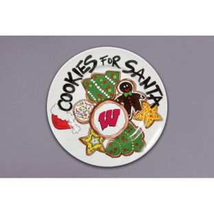 Wisconsin Badgers Magnolia Lane Cookies for Santa Christmas Plate